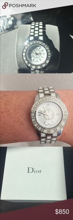 Christian Dior Christal watch Beautiful 28 mm Christian Dior watch.  EUC, comes with links and box. Accessories Watches