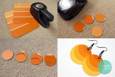 Ombre Paint Chip Earrings DIY