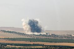 Smoke rises from the Syrian border town of Jarablus as it is pictured from the Turkish town of Karkamis, in the southeastern Gaziantep province, Turkey, August 2016 Turkish Military, Latest International News, Military Operations, F 16, What Goes On, Special Forces, Pictures, Photos, Outdoor