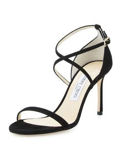 Jimmy Choo Hesper Strappy 85mm Sandal, Black
