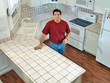 Install tile over laminate counter top