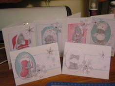 Tatty Ted Christmas cards Christmas Cards To Make, Handmade Christmas, Tatty Teddy, Teddy Bear, Christmas Inspiration, Cardmaking, Card Ideas, Valentines Day, Projects To Try