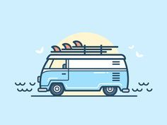 Surf Van by Scott Tusk