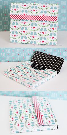 Lawn Fawn - Peace Joy Love paper _ Sharna's pretty Christmas Card Box made using Nicole's Stationery Box project video http://youtu.be/GHwQb292SLY  | Flickr - Photo Sharing!