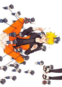 ....what is the Sasuke in front of Nature's crotch doing?