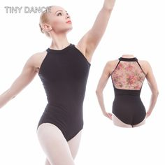9281552a29d2 US $19.8  Aliexpress.com : Buy Flower Printed Mesh & Cotton Ballet Leotards  For Women Ballet Dancewear Adult Dance Practice Clothes Gymnastics Leotards  ...