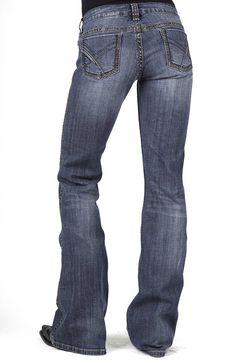 Stetson Womens 816 Classic Boot Cut Jeans - Blue 64c6000394