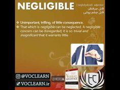 کلمه negligible از کتاب Verbal Advantage - سطح 1