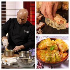 Chef Cătălin Scărlătescu este unul dintre cei mai îndrăgiți bucătari, așa că nu e de mirare că toată lumea vrea să-i afle rețetele cu care își răsfață prietenii și familia. Încercați anul acesta rețeta de sarmale a lui Cătălin Scărlătescu. Iată trucul pe care îl folosește Scărlătescu pentru ca sarmalele lui să aibă o aromă … Chicken, Meat, Food, Meal, Essen, Cubs