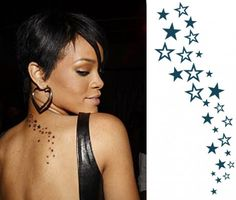 Looking for High Quality Temporary Cascading Star Tattoos? Check out Now our Great Collection of Rihanna Tattoos for Man and Woman. Choose the Perfect One! Buy Now and Make your Body Look Different!