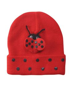 Take a look at this Red Ladybug Beanie by Kidorable on #zulily today!