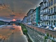 The Arno River at Dusk-yearn to return