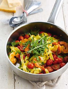 Hasta-la-Pasta mediterraan #WeightWatchers #WWrecept Skinny Recipes, Ww Recipes, Light Recipes, Clean Recipes, Pasta Recipes, Healthy Recipes, Weith Watchers, Bruschetta, Food Vans