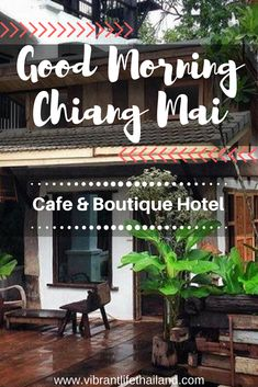 Beautiful cafe and boutique hotel in the Old City of Chiang Mai #chiangmai #thailand