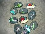 Image result for hand painted rocks