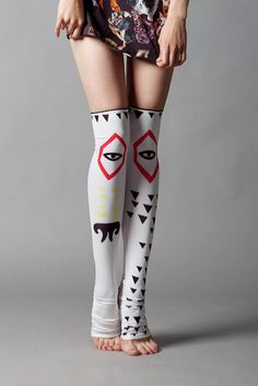 Dog Eye stockings.Alyona Bauska