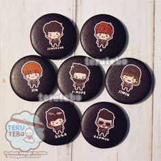 BANGTAN BOYS BTS kpop Button pins / badge by TeruTebo on Etsy