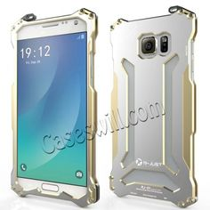 R-JUST Metal Aluminum Bumper Frame Case Cover for Samsung Galaxy Note 5 - Champagne US$31.29