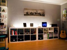 Storage shelves.
