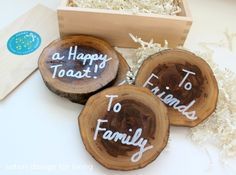 West Elm Inspired Coasters + Handmade Gifts and Gift Wrap Link Party | Satori Design for Living