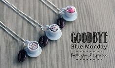 Polymer Clay Miniature Food Jewelry - Java Espresso Necklace. $15.00, via Etsy.