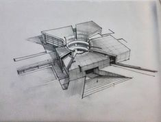 O Architectural sketch Architecture Concept Drawings, Architecture Student, Futuristic Architecture, Art And Architecture, Casa Farnsworth, Arch Model, D House, Building Design, House Design