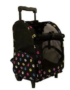 18 Wheel Pet Carrier Multi Colored Paw Print Pet Carrier Backpack -- Be sure to check out this awesome product.(This is an Amazon affiliate link and I receive a commission for the sales)