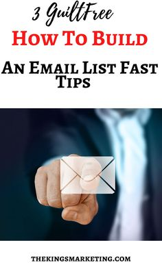 3 Guilt Free How To Build An Email List Fast Tips. The biggest mistake that newbie internet marketers make is not treating their email lists as fundamental markets. When you understand how to build your email list and market to your subscribers, you will see that it is essential to sign up people genuinely interested in what you have to offer. #howtobuildanemaillist #emaillistbuilding #emailmarketing Email Marketing Strategy, Marketing Automation, Social Media Marketing, Digital Marketing, How To Buil, Email List, Guilt Free, Blogging For Beginners, Pinterest Marketing