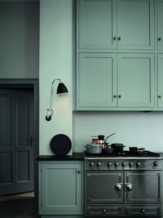 Interior Color. love the color of this kitchen