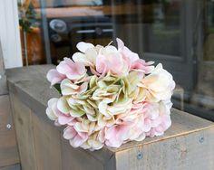 Silk-ka  Hortensia  tak Roze/creme Lengte: 79cm