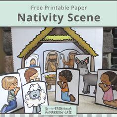 Printable Paper Nativity Scene - Path Through the Narrow Gate