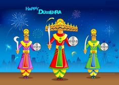 Why is celebrated? Dussehra celebrates the victory over the demon king in an epic battle symbolizing the triumph of good over evil. On a day to be joyous, to indulge in food and glee, wishes all a very happy, spectacular and auspicious Dussehra!