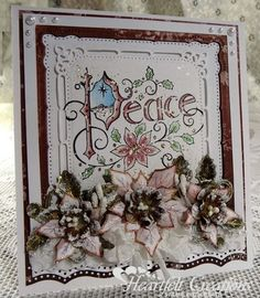 Heartfelt Creations | Poinsettia Peace #cards #stamping #christmas