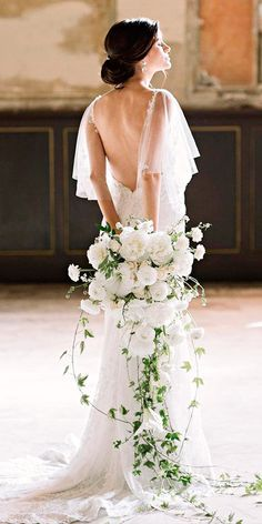 30 Best Of Greek Wedding Dresses For Glamorous Bride ❤ greek wedding dresses romantic sheath low back simple with train flowy ginnysilver ❤ See more: http://www.weddingforward.com/greek-wedding-dresses/ #weddingforward #wedding #bride