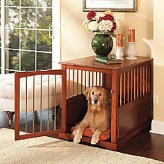 Fancy-shmancy kennel... so much better than the ugly wire ones! And surprisingly, not that expensive!
