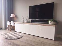 TV-kast Charlene met kinderzitje Home Living Room, Mocka Furniture, Living Room Colors, House Interior, House Interior Decor, Loft Inspiration, Living Decor, Home And Living, Living Room Tv