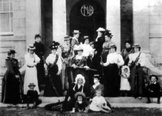 In imitation of their men, Boer women pose with rifles and bandoliers on Dingaan's Day, Dec.