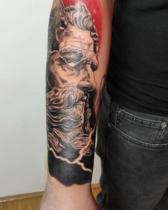 """Lucia on Instagram: """"Videjko k tetovacka Zeusa 🍀 #tattoolife #tattoo #tattoos #tattooinspiration #tattoomag #inkstagram #inked #inkeddad #blackrealism #realism…"""" Tattoo Life, Tattoo Inspiration, My Design, Ink, Portrait, Instagram, Headshot Photography, Portrait Paintings, India Ink"""