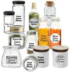 Premium Spice Jar Labels Custom Set of 30 Circle-White Script by ClarUSA. $7.97. You Choose 30 Spice Names for your Custom Printed Labels. Polyester, Tear-Resistant, Water-Resistant, High Quality Labels.. Label Your Spice Jars Accurately and in the Style that Suits Your Decor. Choose from a variety of Colors, Sizes and Fonts. This Premium Spice Jar Labels Custom Set of 30 Circle-White Script helps you organize your spices, herbs and condiments with ease and style. . . all person...