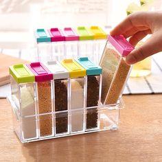 Spice Storage Containers, Kitchen Spice Storage, Diy Storage, Kitchen Organization, Storage Ideas, Organize Plastic Containers, Kitchen Containers, Storage Rack, Storage Boxes