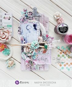 """Hello, Everyone! I love the Havana collection for it`s soft, pastel colors. It gives opportunity to create something summery and light. Mini Scrapbook Albums, Mini Albums, Shabby Chic Cards, Prima Marketing, Journal Cards, Pastel Colors, Havana, Mixed Media Art, My Photos"