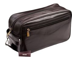Prime Hide Brown Leather Wash Bag | Mens Washbag