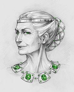 Calanthe by Anastasia Kulakovskaya (Witcher)