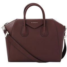 Givenchy Medium Antigona found on Polyvore featuring bags, handbags, sac, givenchy purse, zipper purse, givenchy, red leather handbag and red leather purse