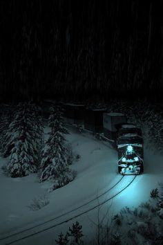 Night Train in the Snow