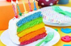 Bolo colorido fofo arco iris cute 10