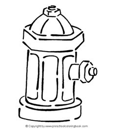 Free Fire Coloring Pages fire hydrant coloring page crafts