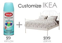 Ikea Hack | Custom Bed | A Fab Life Bedding Inspiration, Home Decor Inspiration, Leirvik Bed, Ikea Bed Hack, Decoration Ikea, Rainbow Room, Best Ikea, Fab Life, Ikea Bedroom