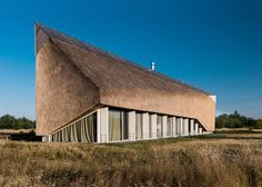 Archispektras creates holiday home with a sculptural thatched roof on the Baltic…