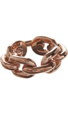 On My Mind: Jennifer Fisher Rose Gold Chain Link Ring